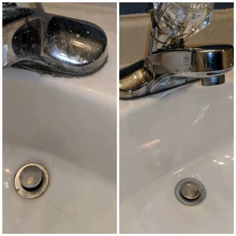 Bathroom Cleaning - Faucet